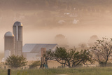 Morning Fog over Farm Along Pennsylvania Route 23 East of Lancaster, Pennsylvania Photographic Print by Richard Nowitz
