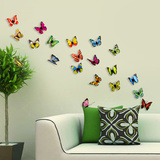 3D Colourful Butterflies - Magnetic/Wall Stickers - Duvar Çıkartması
