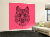 Pink Woolf Wall Mural – Large by Lisa Kroll