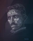 Nikola Tesla Typography Quotes Affiches par  Lynx Art Collection