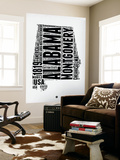 Alabama Word Cloud 2 Wall Mural by  NaxArt