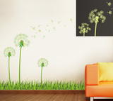 Glow in the Dark Dandelion Vinilo decorativo