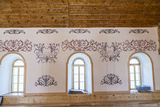 Painted Patterns on the Wall in the Akhaltsikhe Synagogue of the Georgian Jews Photographic Print by Richard Nowitz