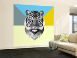 Party Tiger Wall Mural – Large by Lisa Kroll
