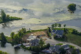 An Aerial View of Large Homes on a Waterfront in Indiana Reprodukcja zdjęcia autor Pete McBride