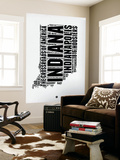 Indiana Word Cloud 2 Wall Mural by  NaxArt