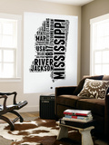 Mississippi Word Cloud 2 Wall Mural by  NaxArt
