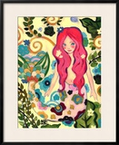 Spring Mermaid Framed Giclee Print by Natasha Wescoat