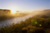 Sunrise Through Fog on the Loup River in the Nebraska Sandhills Photographic Print by Michael Forsberg