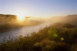 Sunrise Through Fog on the Loup River in the Nebraska Sandhills Photographic Print by Michael Forsberg