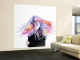 Little Girl Wall Mural – Large by Agnes Cecile