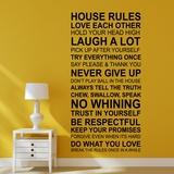 House Rules - English - Duvar Çıkartması