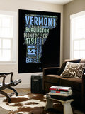 Vermont Word Cloud 1 Wall Mural by  NaxArt