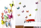 3D Colourful Butterflies Set 1 - Magnetic/Wall Stickers Kalkomania ścienna
