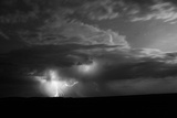 Mongolia: A Lightning Storm Builds on the Mongolian Steppe Photographic Print by Ben Horton