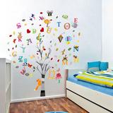 Photo Frame Tree & Letters Kalkomania ścienna