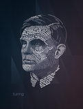 Alan Turing Typography Quotes Prints by  Lynx Art Collection