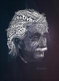 Albert Einstein Typography Quotes Affiche par  Lynx Art Collection