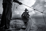 Andaman Sea: Fishermen Haul in their Net in the Andaman Sea Photographic Print by Ben Horton