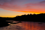 Orange Sunrise over the Niobrara River Photographic Print by Michael Forsberg