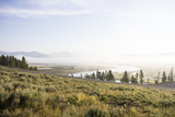 Scenic Overlook of Fog over the Hayden Valley Photographic Print by Stacy Gold