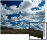 Rolling Hills with White Clouds and Blue Sky Art by Michael Forsberg