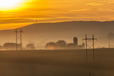 Sunrise and Fog over a Farm Along Pennsylvania Route 23 East of Lancaster, Pennsylvania Photographic Print by Richard Nowitz