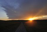 Sunset over a Rural Road Photographic Print by Michael Forsberg