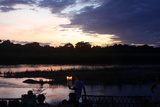 Sunset in Chitwan National Park Photographic Print by Jill Schneider