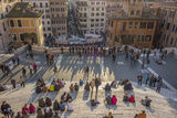 Crowds Lounge on the Iconic Spanish Steps Photographic Print by Will Van Overbeek