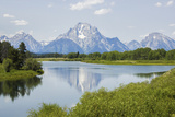Scenic View of a Lake Underneath the Peaks of the Grand Teton Mountains Photographic Print by Stacy Gold