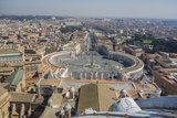 Overlook of Saint Peters Square in Vatican City Photographic Print by Will Van Overbeek