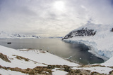 Wide Angle of a Ship and Glacier at Neko Harbor on the Antarctic Peninsula Photographic Print by Rich Reid