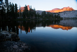 Alpenglow at Sunset on Cathedral Peak in Tuolumne Meadows Photographic Print by Ben Horton
