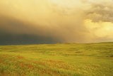A Storm Rolls in over the High Plains of the Agate Fossil Beds National Monument Photographic Print by Michael Forsberg