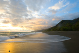 Osa Peninsula, Costa Rica: the Tide Rises at Sunset on a Remote Beach in Costa Rica Photographic Print by Ben Horton