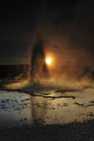 Sawmill Geyser Is Backlit, Yellowstone National Park, Wyoming Photographic Print by Keith Ladzinski