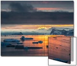 Sunset Off Andersson Island, with Coastal Mountains and Ice Floes Posters by Kent Kobersteen