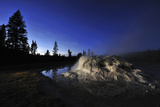 The Midway Geyser Basin at Night, under the Big Dipper, Yellowstone National Park, Wyoming Photographic Print by Keith Ladzinski