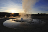 Sawmill Geyser at Sunrise, Yellowstone National Park, Wyoming Photographic Print by Keith Ladzinski