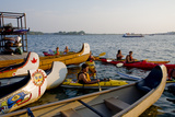 Boaters at Harbourfront Kayak Centre in Toronto Photographic Print by Tim Thompson