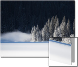 A Low-Lying Mist Hovers over a Snowy Landscape Prints by Robbie George