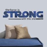 Star Wars Classic The Force Is Strong Peel & Stick Wall Decals - Duvar Çıkartması