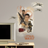 Star Wars: Ep VII Hero Burst Peel & Stick Giant Wall Decal Autocollant mural