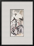Crane and Plum Blossoms Framed Giclee Print by Wang Zhen