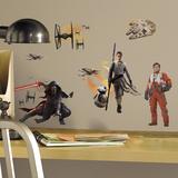 Star Wars: Ep VII Ensemble Cast Peel & Stick Wall Decals Kalkomania ścienna