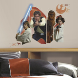 Star Wars Classic Burst Peel & Stick Giant Wall Decal Autocollant