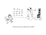 """""""Do you have this in a flat brown sandal?"""" - New Yorker Cartoon Premium Giclee Print by Edward Steed"""