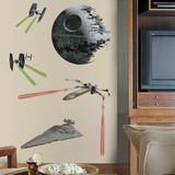 Star Wars Classic Ships Peel & Stick Giant Wall Decals Wandtattoo