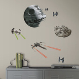 Star Wars: Ep VII Spaceships Peel & Stick Wall Decals Autocollant
